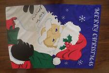 "Merry Christmas Flag Santa Claus 28"" x 41"" Nwot"