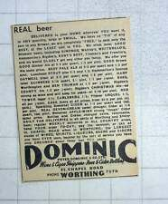 1949 Real Beer Delivered To Your Home By Peter Dominic Chapel Road Worthing