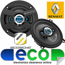 """Renault Clio Door Speaker Upgrade 1998 - 2005 MK2 Scosche 5.25"""" 13cm 320 Watts"""