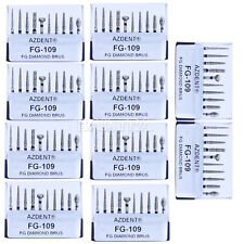 100 Kits AZDENT Dental Porcelain Preparation / Repair Kit FG-109 Black 10Pcs/Kit