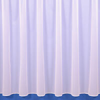 Sue Plain Lead Weighted Voile Net Curtain In White or Cream. Sold By The Metre