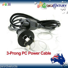 2 x 3 Prongs Laptop AC Power Adapter Cable Notebook Camera Monitor Charger Cord