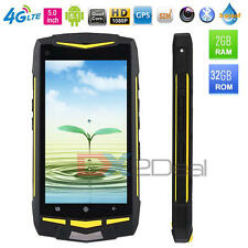 Rugged Waterproof Smart Phone 4G Dual Sim Android 5.1 Octa Core Walkie talkie 5""