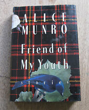 SIGNED - FRIENDS OF MY YOUTH by Alice Munro  - 1st/1st HCDJ  1990 - Nobel Prize