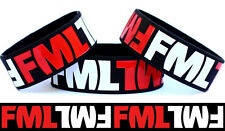 FML Wristband F**** My Life Bracelet One Inch Wide Wrist Band Funny Joke Item