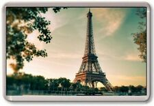 FRIDGE MAGNET - EIFFEL TOWER - Large Jumbo (Green) France Paris