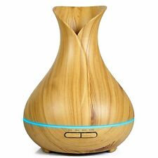 Wood Smart Wooden Ultrasonic Mist Humidifier Aroma Essential Oil Diffuser 400ml
