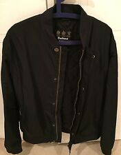 BARBOUR INTERNATIONAL x STEVE McQUEEN MENS BOMBER JACKET NAVY SIZE XL
