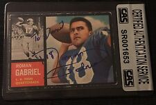 ROMAN GABRIEL 1962 TOPPS ROOKIE SIGNED AUTOGRAPHED CARD #88 RAMS CAS AUTHENTIC