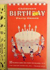 Vintage Children's Birthday Games Leister Game Co Toledo Ohio N-110 Party Fun