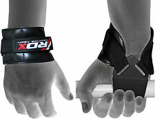 RDX Weight Lifting Reverse Grips Training Gym Straps Gloves Wrist Support Bar PR