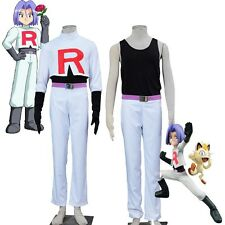 Original Exclusive COS Pokemon Team Rocket James Cosplay Costume Pocket Game