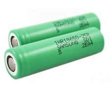 2 Of Samsung 25R INR 18650 3.7V Battery 2500mAh 20A Continuous 35A High Drain
