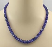 Tansanit Kette facettierter Tansanit blau Halskette für Damen 255 Karat