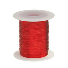 "30 AWG Gauge Enameled Copper Magnet Wire 8oz 1606' Length 0.0108"" 155C Red"