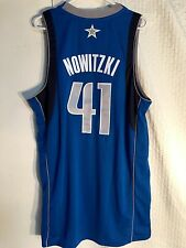 Adidas Swingman NBA Jersey Dallas Mavericks Dirk Nowitzki Blue sz 2X