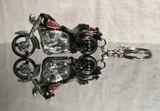 2015 Hot Wheels Harley Davidson Fat Boy Motorcycle Custom Key Chain Ring!