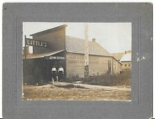 Antique Mounted Cabinet Photo of LITTLE's General Store 2nd-Hand Goods Dogs