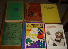 Lot of 6 Childrens Books Carmen of The Golden Coast, Bozo, Stevie, Isidore Old