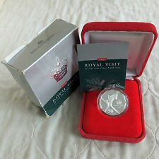 AUSTRALIA 2000 ROYAL VISIT 50 CENTS .999 FINE SILVER PROOF - boxed/coa/outer