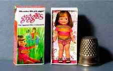 Dollhouse Miniature  Giggles Doll Box   1960s dollhouse girl toy  nursery 1:12