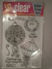 Fancy Ornaments Acrylic Stamp Set - Impression Obsession, Christmas, Holidays
