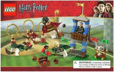 LEGO HARRY POTTER QUIDDITCH MATCH 4737 100% COMPLETE 5 MINIFIGURES + FREE STANDS