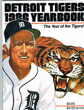 1986 Detroit Tigers MLB Baseball YEARBOOK