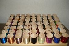 63 metallic and holographic thread for rod building 100 YARDS SPOOLS BOBNUS