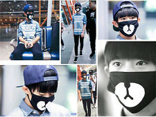 Hot Black Cycling Anti-Dust Healthy Cotton Cute Bear Mouth Face Mask Respirator