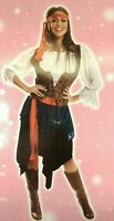 SEXY ADULT PIRATE CARIBBEAN LADIES/LADY FANCY DRESS OUTFIT/COSTUME NEW