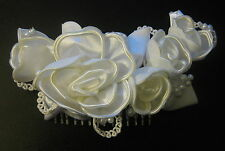 NEW Bridal/Wedding/Engagement Head Piece Faux Pearl Flower Hair Comb/Clips