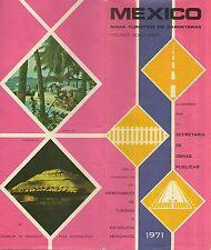 Official 1971 SOP PEMEX Road Map MEXICO Acapulco Puebla Leon Petróleos Mexicanos