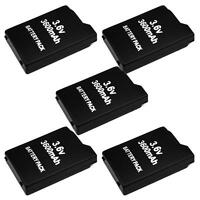 5X 3600mAh 3.6V Lithium Rechargeale Battery Pack for Sony PSP 1000 1001 Series