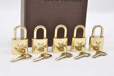 Authentic  Louis Vuitton Padlock and key 5 Set 302/303/317/317/322 #T039 E