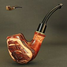 "HAND CARVED, EXCLUSIVE REAL TOBACCO SMOKING PIPE PEAR    "" Ship  """