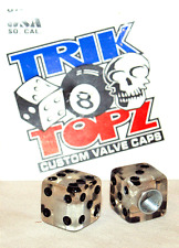 Trick Top Schrader Valve Caps / Clear Dice NEW!