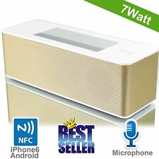 NFC Bluetooth Speaker Portable Wireless Boombox Soundbar Amplifier Subwoofer 7W