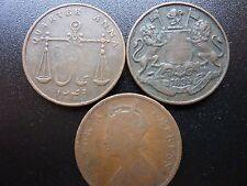 1833 1835 1882 India 1/4 Quarter Anna's