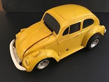AURORA THE IMPOSTERS VW WIND UP TOY CAR (1972) VINTAGE YELLOW