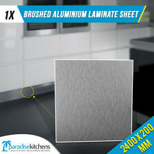 brushed aluminium laminate kitchen kickboard plinth 2.4 200mm high kickface