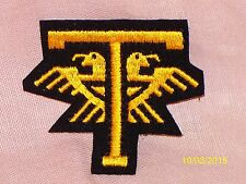 Vintage Ford Thunderbird Embroidered Sew-on Patch Black Gold 3 1/4 X 2 3/4