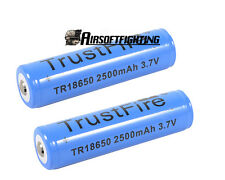 2pcs TrustFire Protected Lithium Rechargeable Battery 18650 3.7V 2500mAh Cell