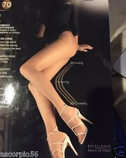 Oroblu Repos 70 Tights Black Made in Italy Luxurious Aroma Therapy SAND SMALL