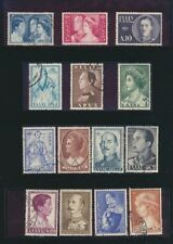 Greece Crown Prince Constantine 1956 Set of 14 Used #587 - 600 Complete. Buy Now