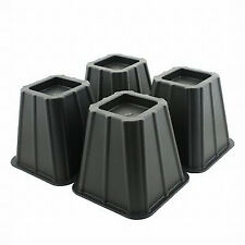 Bed Risers Lift Furniture Lifts Underbed Storage set of 4 Black