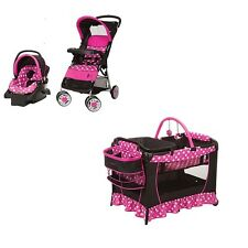 NEW 3 Piece Disney Baby Minnie Mouse Stroller, Car Seat & Pack N' Play Play Pen