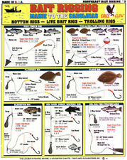 SALTWATER New England Bait Rigging Chart - Tightline Publications #2