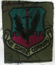 US AIR FORCE AIR COMBAT COMMAND PATCH SUBDUED W HOOK UNCUT IRREGULAR NEW