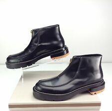 Marni NIB Men's Zip-Up Ankle Boots Black Coal Canyon Leather Size 10 M / EU 43